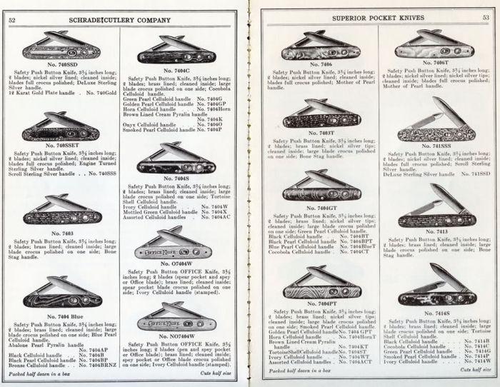 vintage schrade walden knives