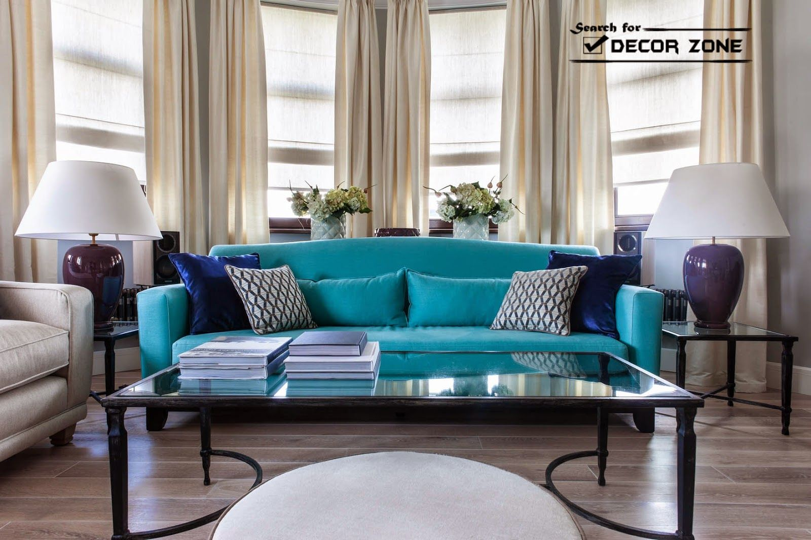 Contemporary Living Room Furniture Turquoise Sofa And White Chairs Living Room Turquoise Blue Living Room Decor Blue Furniture Living Room #turquoise #and #white #living #room