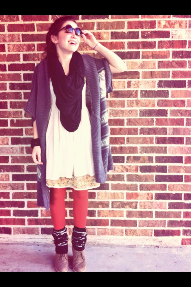 Love this fall outfit:) my sister is so beautiful