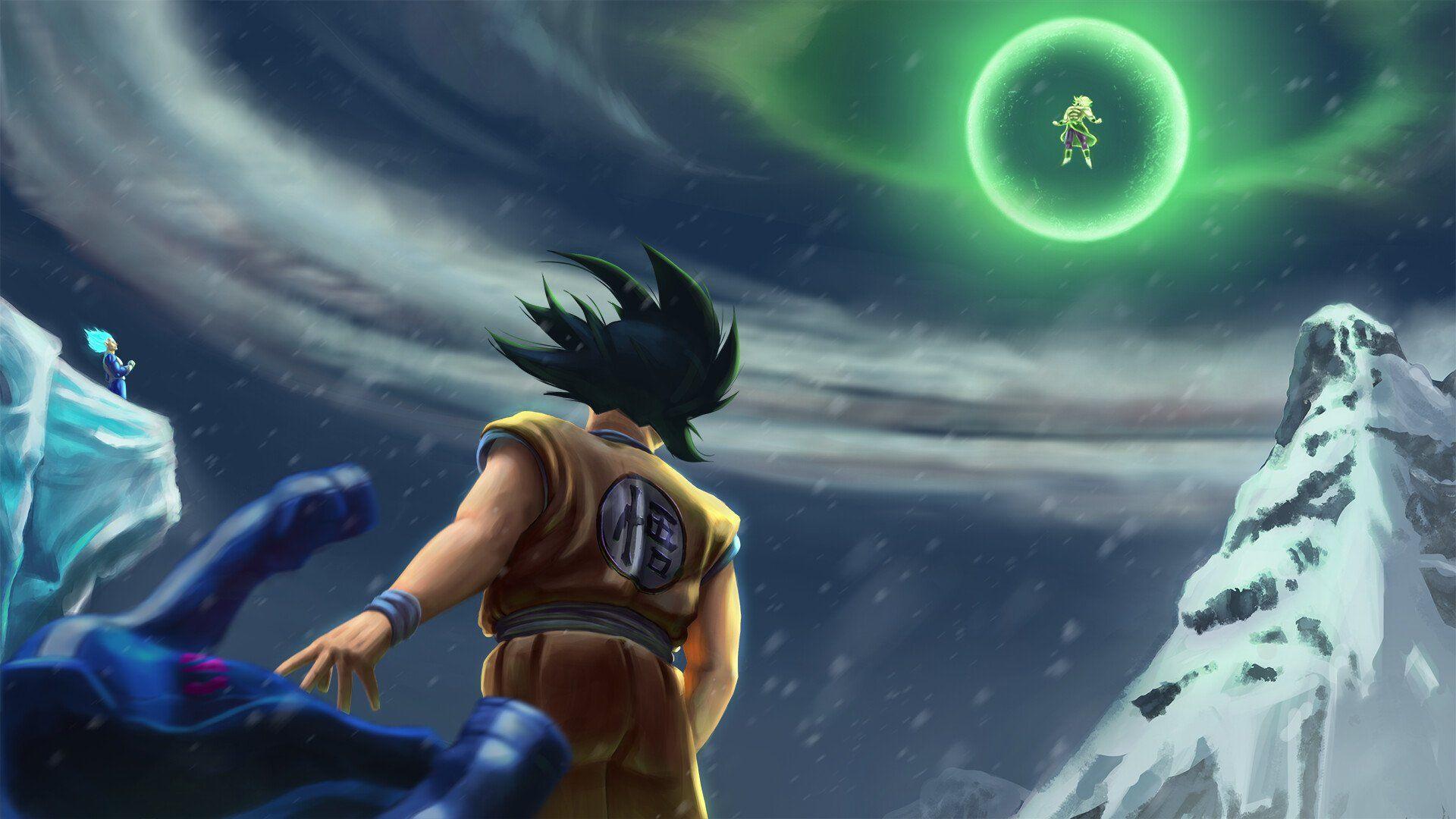 Goku / Vegeta Vs Broly Movie Dragon Ball Super Broly