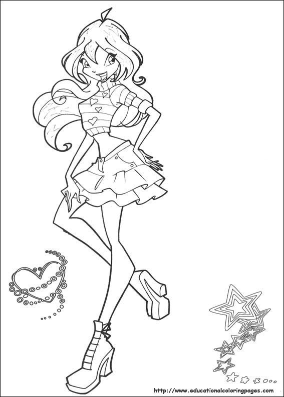 Winx Club Coloring Pages Free For Kids