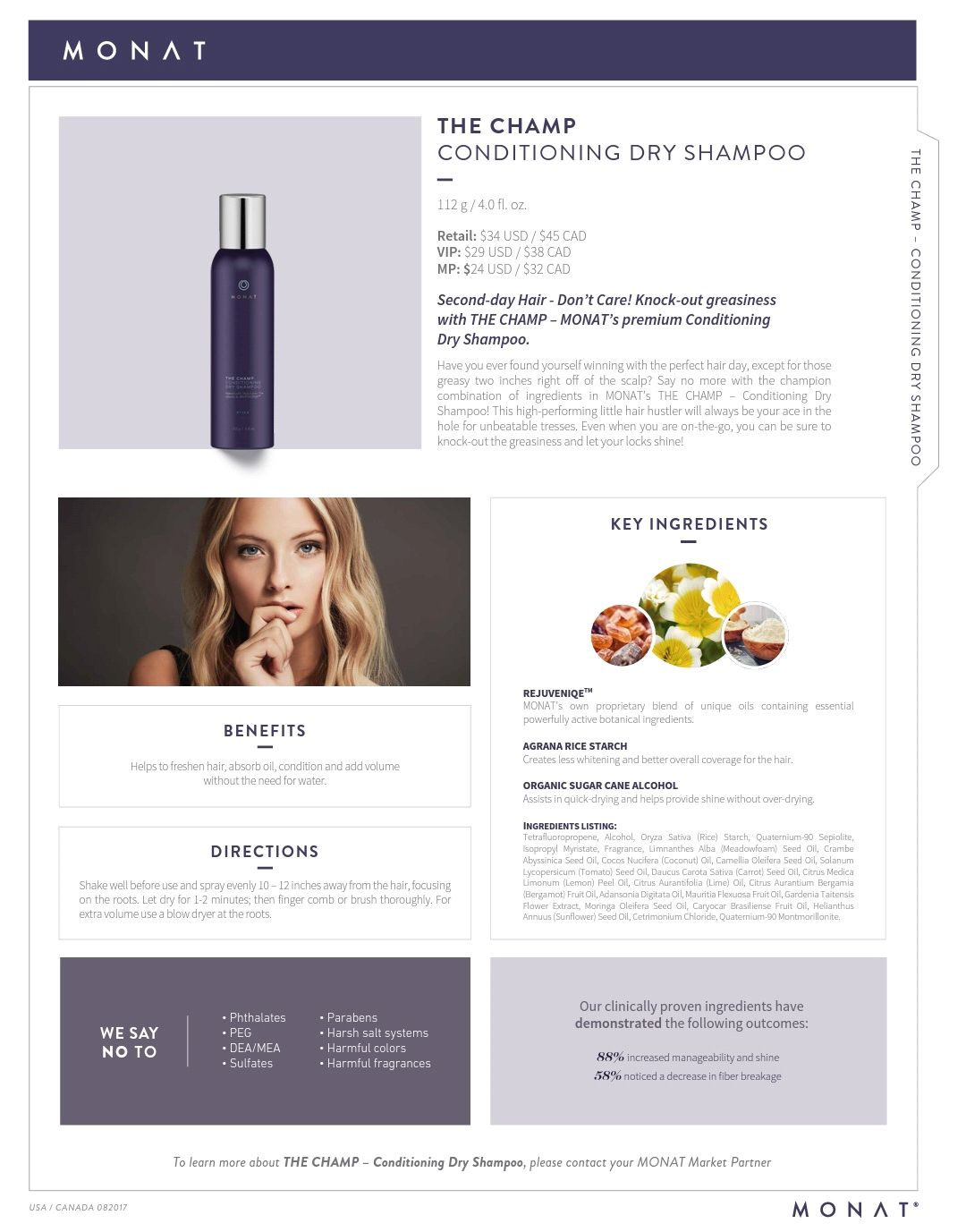 Monat Dry Shampoo Image By Michel S Hair Boutique On Monat Hair