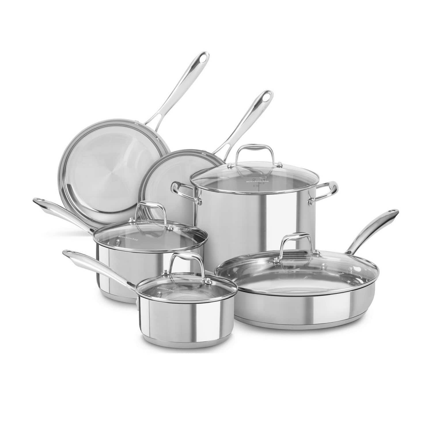 kitchenaid stainless steel silver 10 piece set in 2019 products rh pinterest com