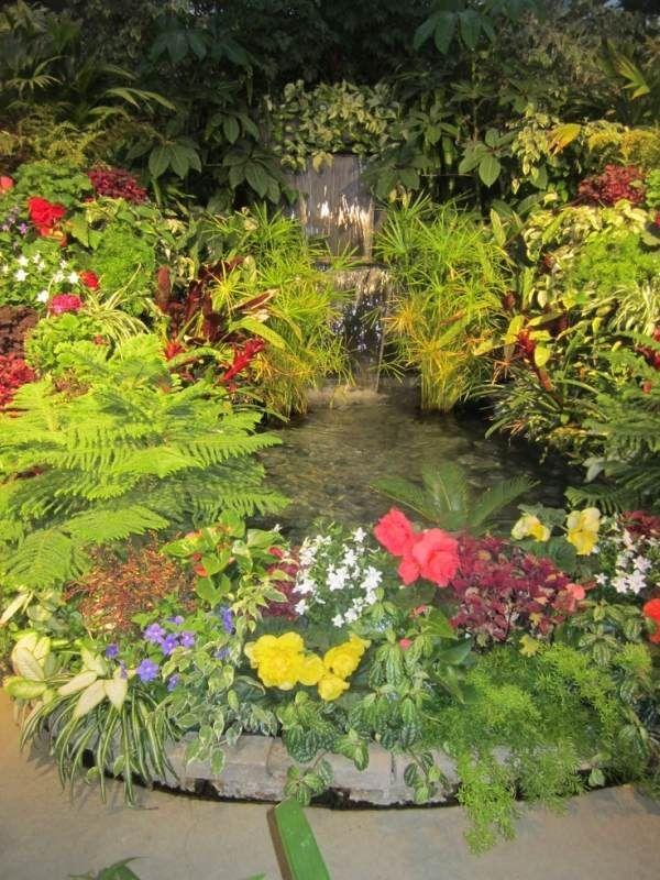 üppig Bewachsener Gartenteich Selbst Anlegen Mit Wasserfall Ideen
