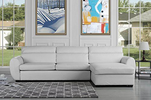 Divano Roma Furniture Big modern living room l shape sectional sofa