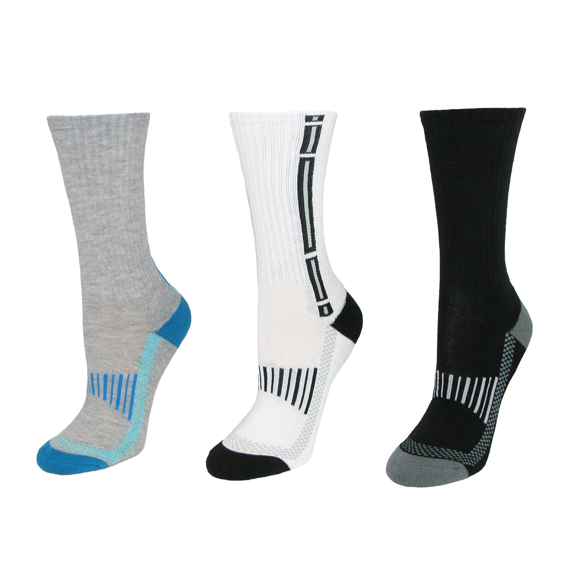 Jefferies Socks Boys/' Big Tech Sport Quarter Socks 6 Pair Pack Multicolor Large