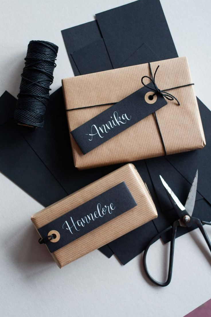 Gift wrapping - three creative and modern inspiration ideas -  #Creative #Gift #Ideas #Inspir...