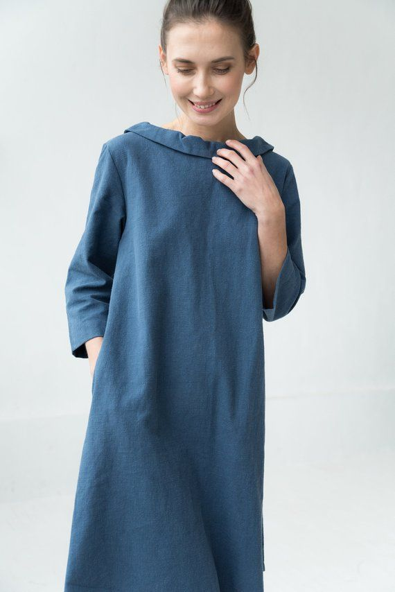 e04d28ec42 LeMuse blue STORY linen dress in 2019