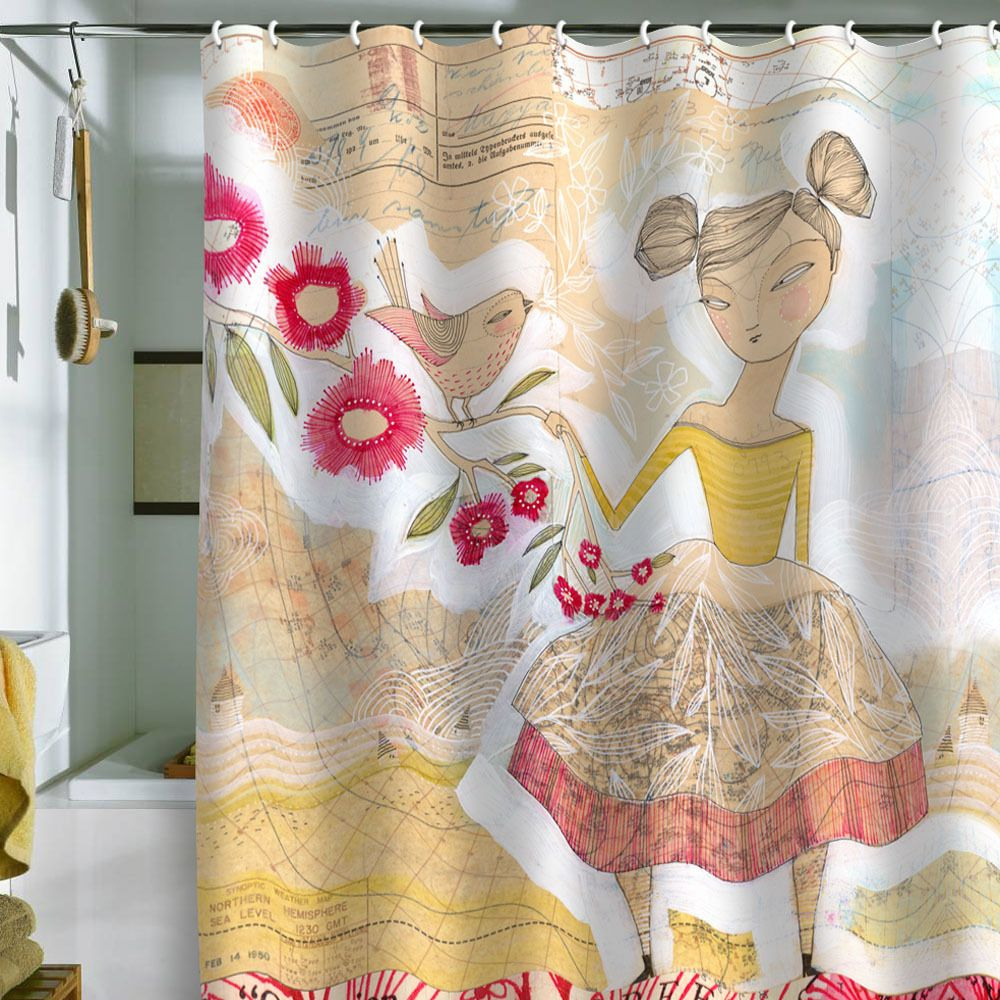 Deny Designs Cori Dantini The Secret To Hiness Shower Curtain