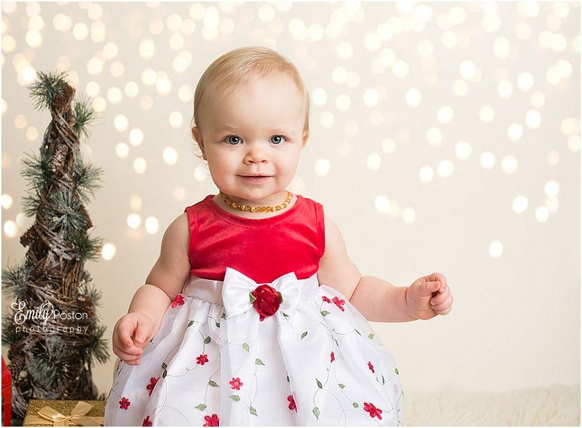 Baby christmas photos bokeh overlay emily poston photography jefferson city mo newborn family