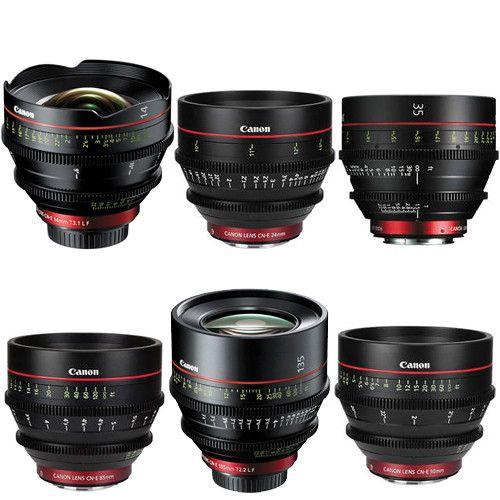 Canon Ef Cinema Prime Lens Kit 14 24 35 50 85 135mm Canon Camera Prime Lens Lens