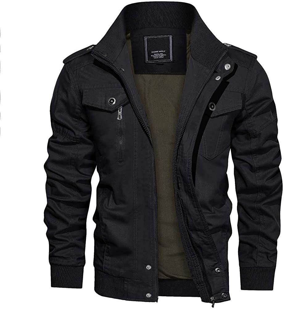 Crysully Mens Fashion Casual Thin Military Tactical Jacket Ripstop Army Bomber Jacket Black Us S Tag L Military Bomber Jacket Mens Jackets Casual Tactical Wear [ 1000 x 921 Pixel ]