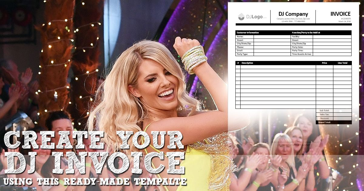 Are You A Dj Use This Easy To Use Ready Made Dj Invoice Template In Ms Word To Create Your Invoice Dj Dj Company Invoice Template