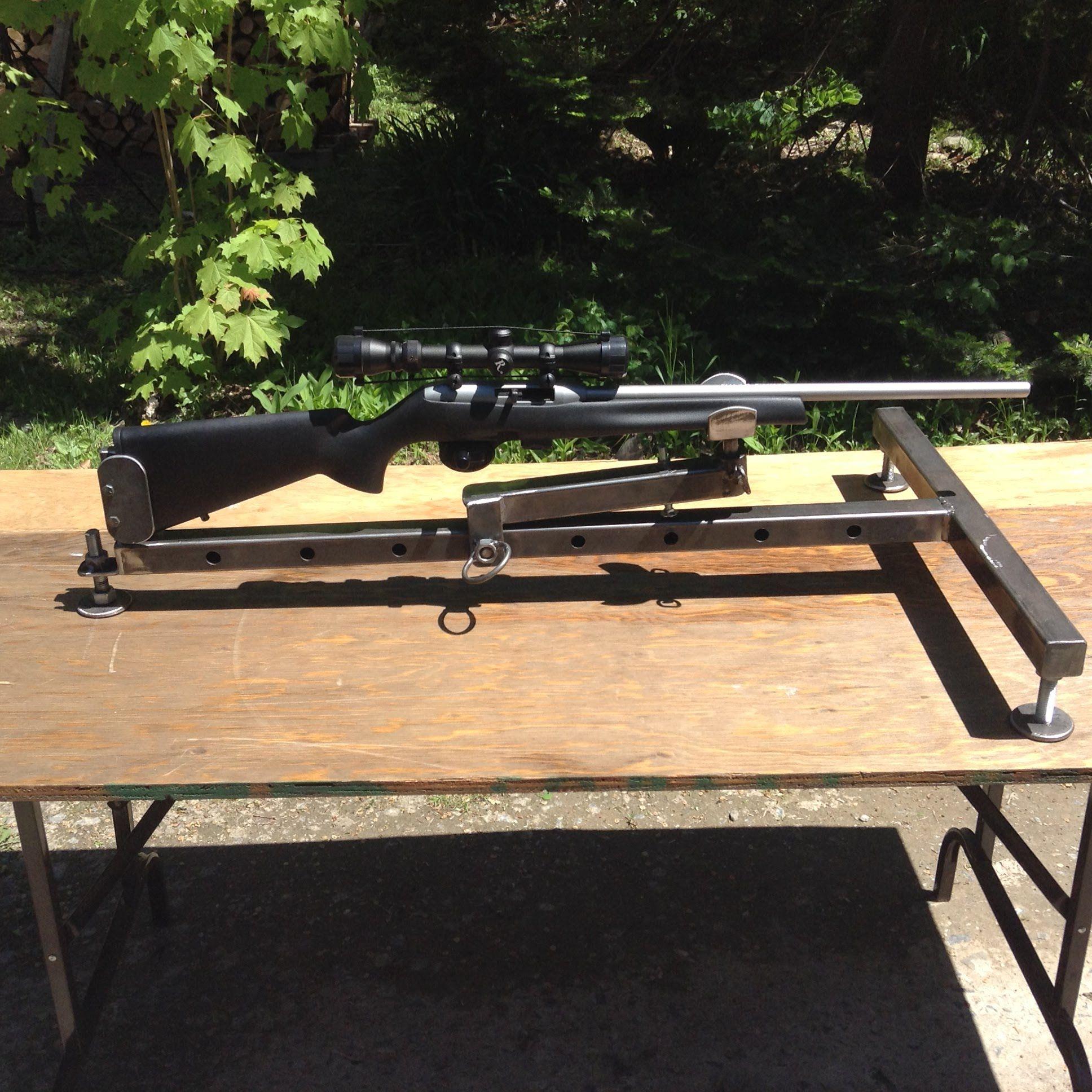 Gun Vise Shooting Rest Homemade Shooting Pinterest