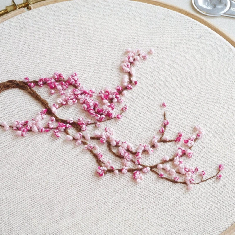 Online Embroidery Class: Blossom Embroidery