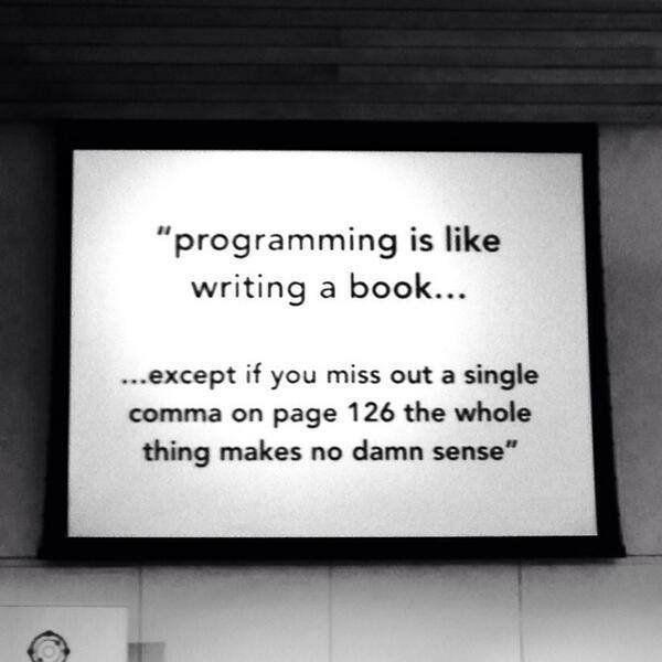 Programmieren ist wie #programingsoftware
