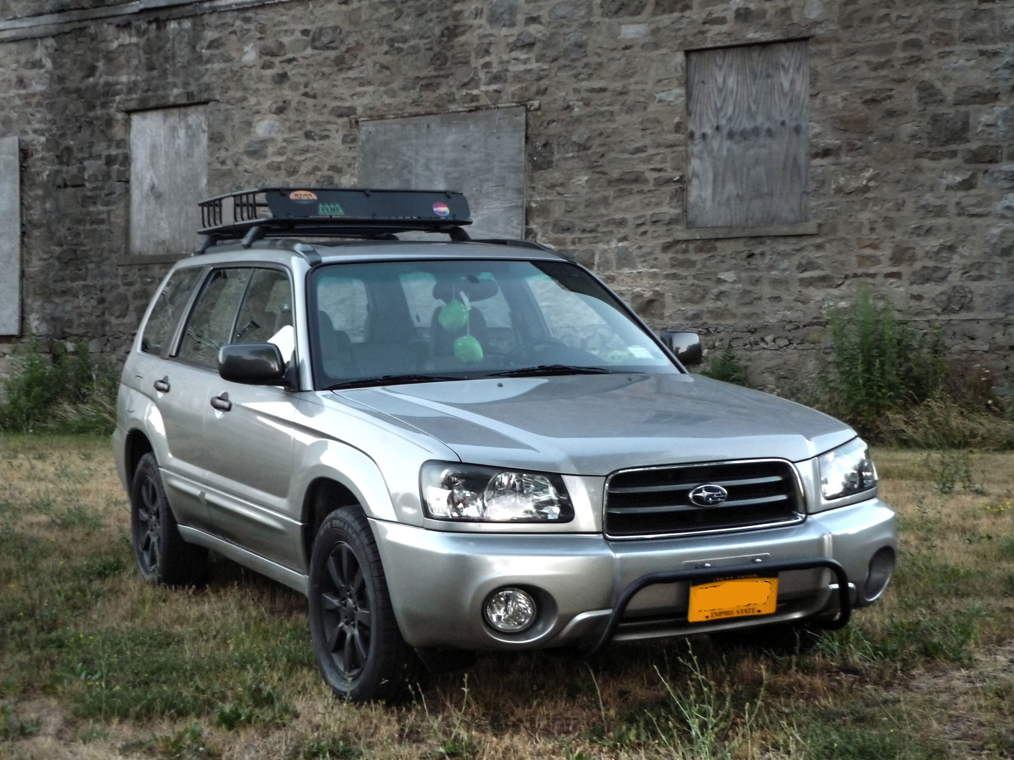 2005 crystal gray metallic subaru forester xs with rally 2005 crystal gray metallic subaru forester xs with rally innovations light bar cleared corners vanachro Gallery