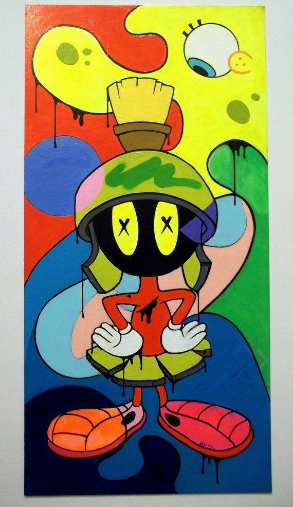 Original Raw Technicolor Art Graffiti Art Urban Etsy In 2020 Graffiti Wall Art Urban Art Painting Simpsons Art