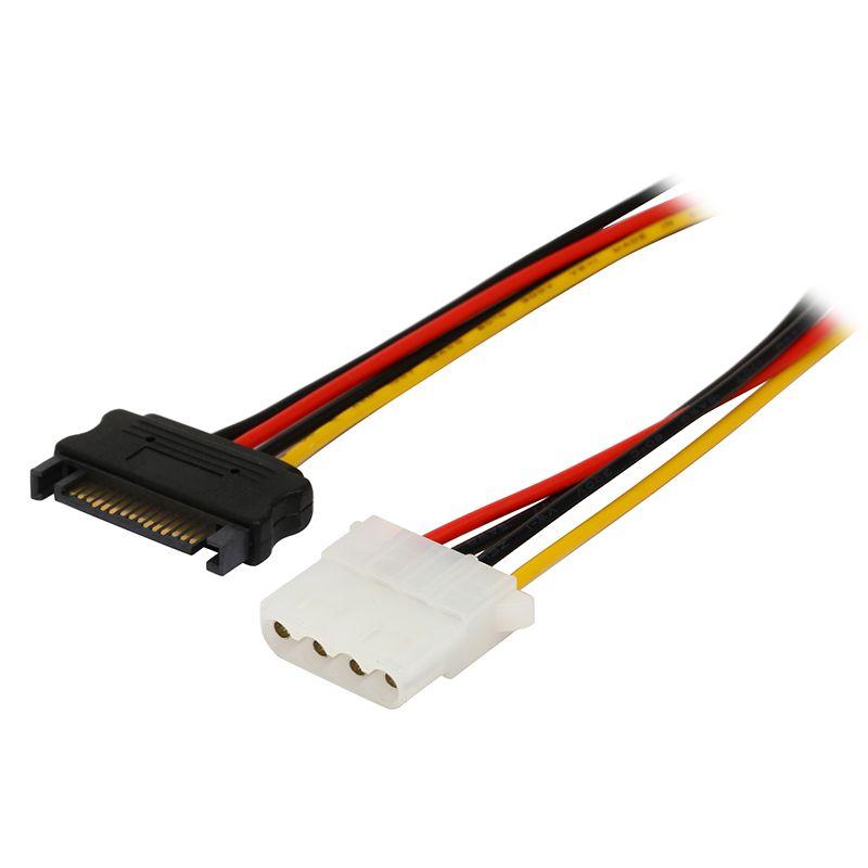 12 inch SATA Male to 4 pin Molex LP4 Female IDE Hard Drive Power ...