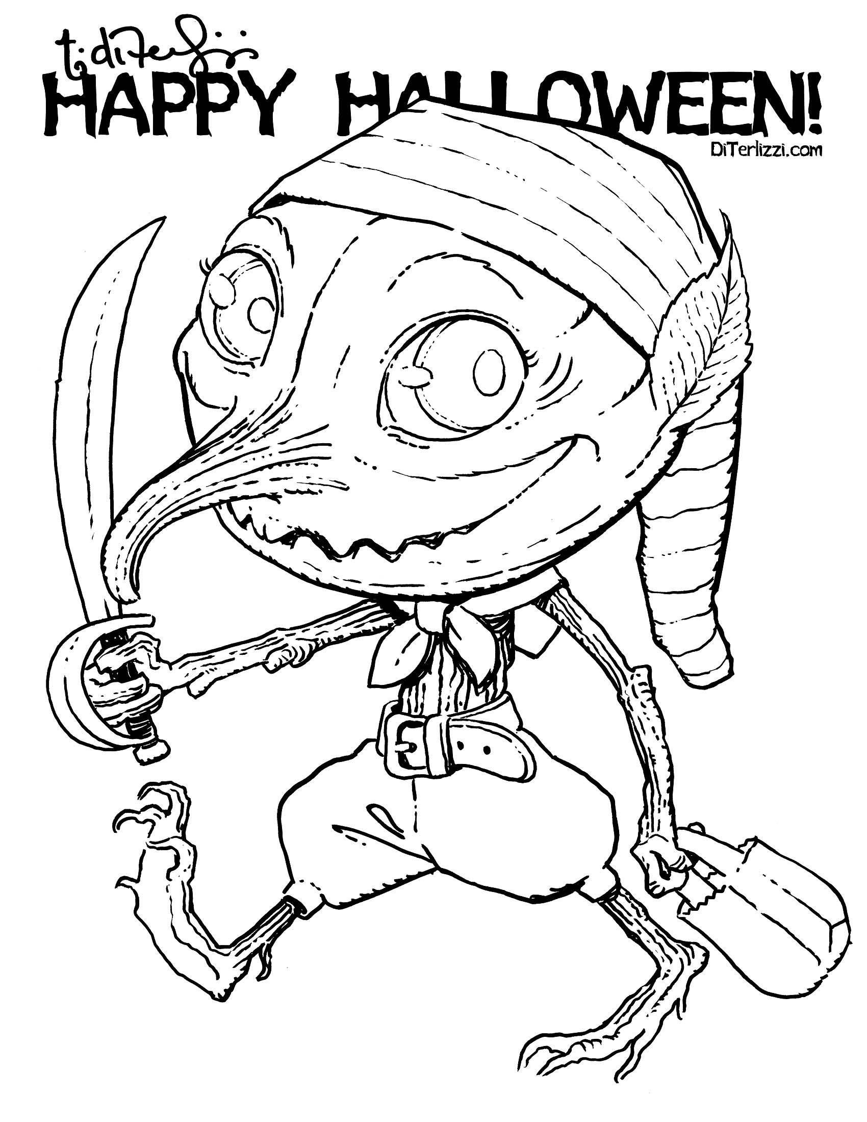 Halloween Coloring Pages From Tony DiTerlizzi