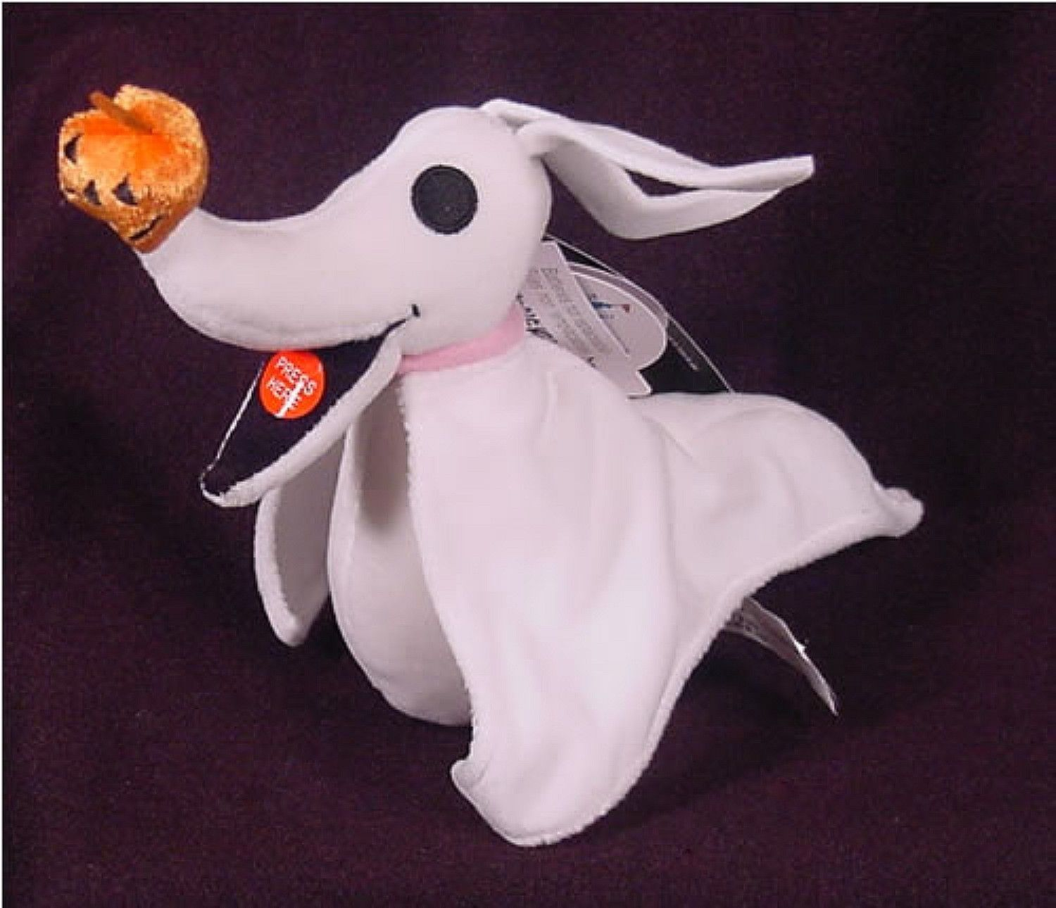 zero plush light up nose 8 nightmare before christmas disney theme parks new