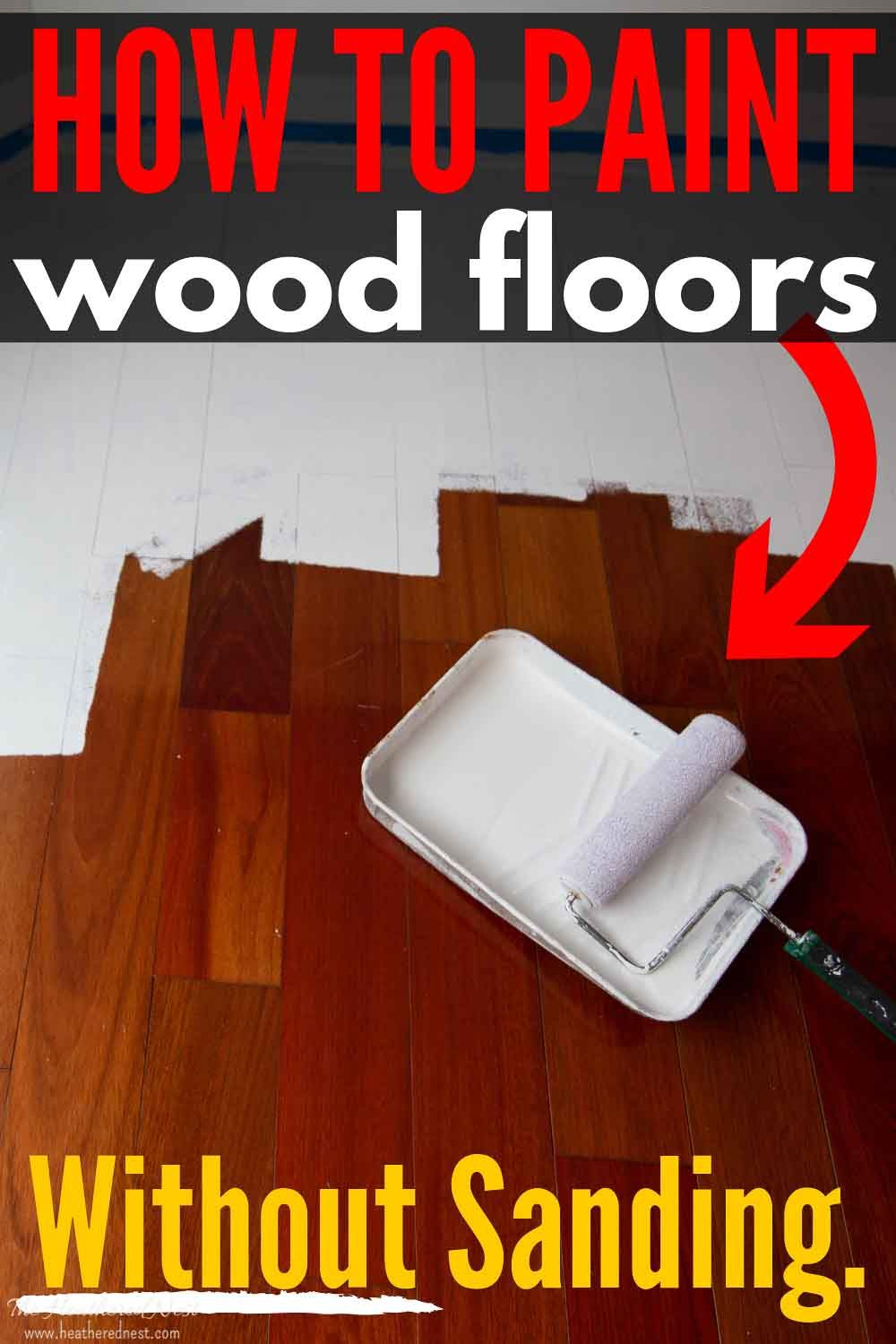 How To Paint Wood Floors Without Sanding Painted Wood Floors