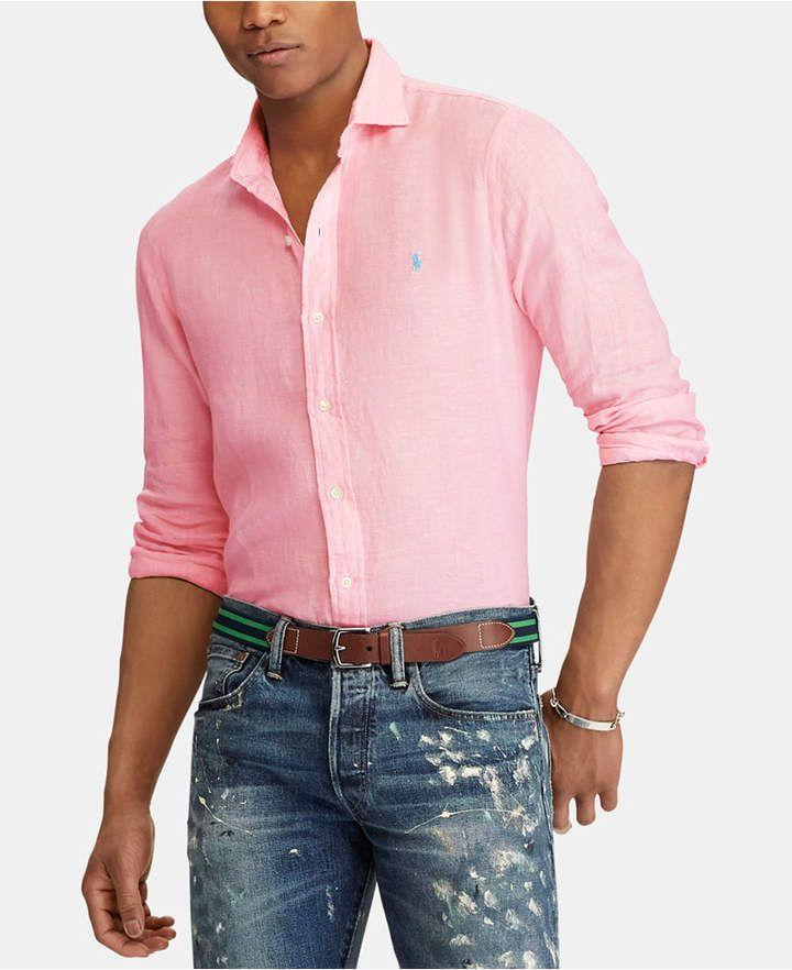 7cd03a52 Polo Ralph Lauren Men Slim Fit Linen Shirt | Products in 2019 ...