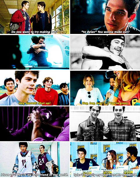 """#TeenWolf - Dylan O´Brien quote: """"I think a lot of my and Tyler's actual relationship translates to screen because we are really close in real life."""""""