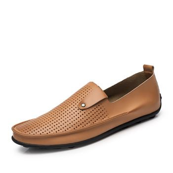 Mens Hollow Loafers Breathable Classic Easy On Off Low Top Flats