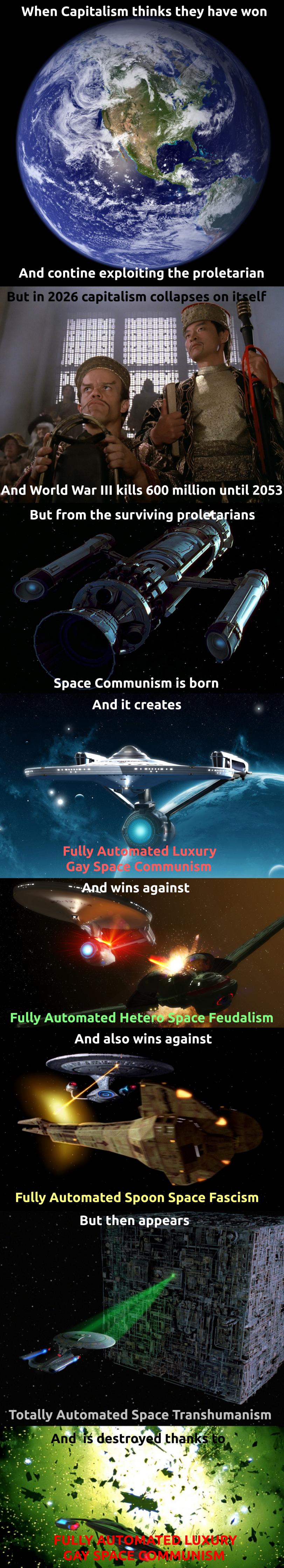 GAY LUXURY SPACE COMMUNISM