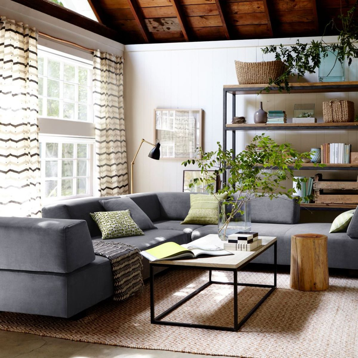 west elm tillary - this layout might work too - pull away from the wall and put shelving behind couch : west elm tillary sectional - Sectionals, Sofas & Couches