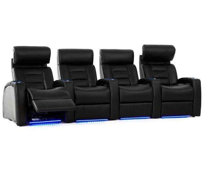 4 Seat Leather Reclining Sofa