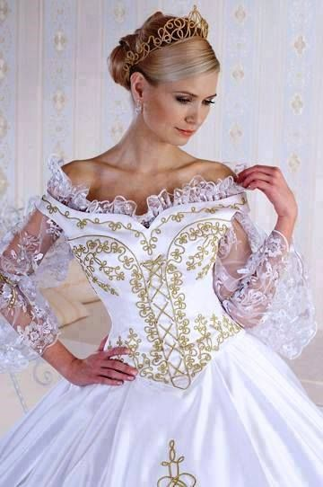 Hungarian Wedding Dress With The Typical Motives