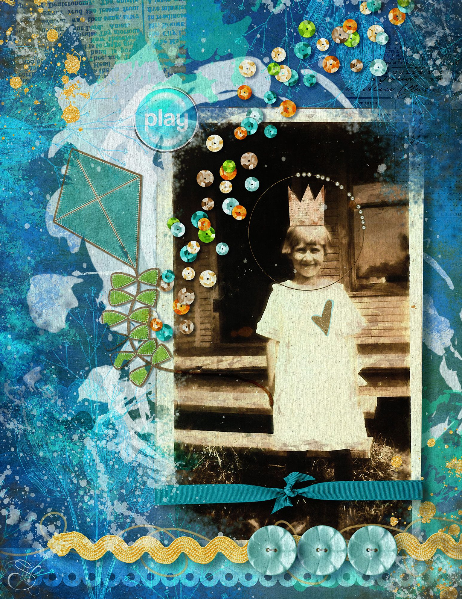 Love giving new life to an old photo found in an antique store