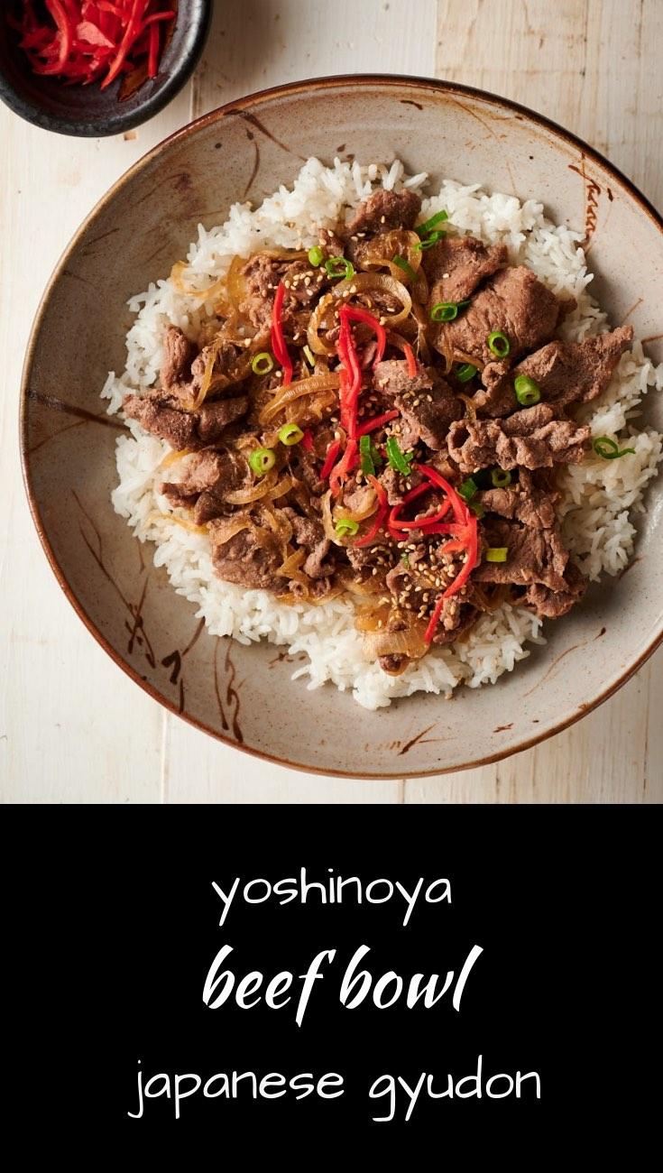Gyudon Japanese Beef Bowl Resep