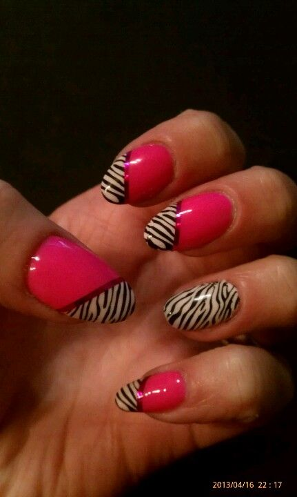 Zebra! Gelish and konad stamping #gelish mani   My nail art ...