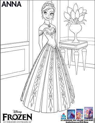 Frozen Coloring Coloring Pages And Paper Dolls