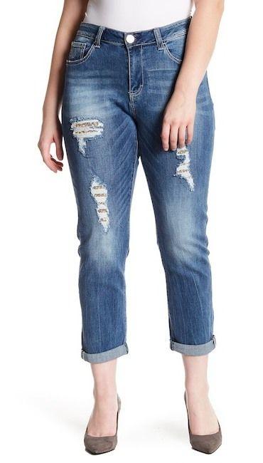73c48d601bd Seven7 Rolled Destructed Skinny Jeans (Plus Size)  AF