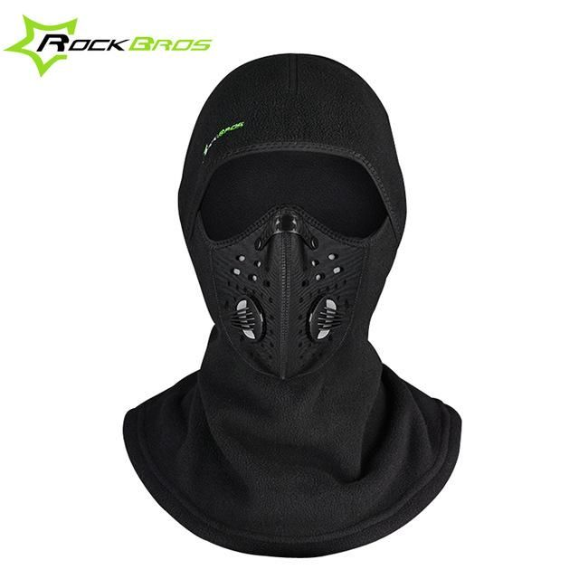 dbac3054da7db ROCKBROS FACE MASK CAP THERMAL FLEECE SKI MASK FACE SNOWBOARD SHIELD HAT  COLD HEADWEAR FACE MASK FITER SCARF