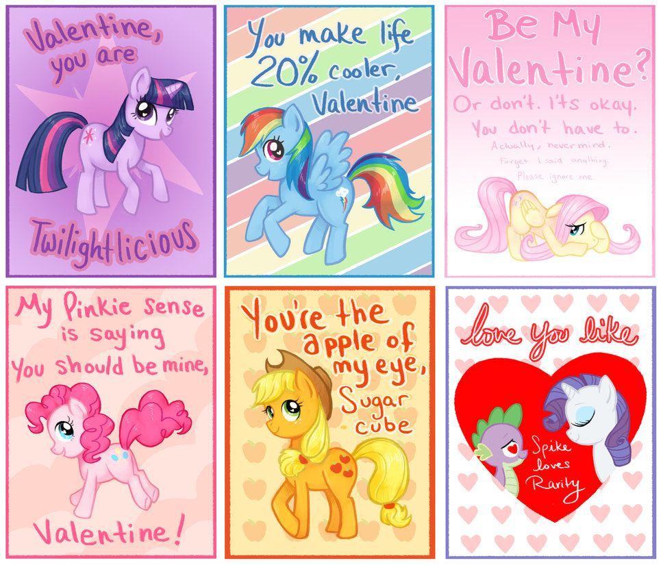 My Little Pony Valentine  MLP  Pinterest  Pony MLP and Funny