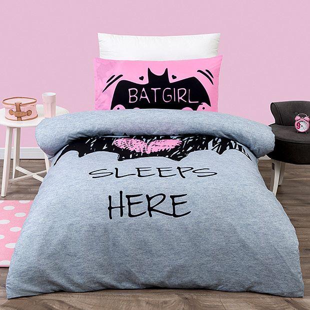 Batgirl Quilt Cover Set Xmas 2016 Batman Bedroom Bedroom Comforter Sets Batman Room