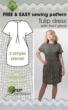 TULIP DRESS - Free sewing pattern | Pinterest | Sewing projects ...