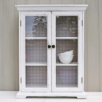 White glass fronted wall cabinet by primrose bathroom - Bathroom storage wall cabinets white ...