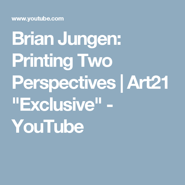 "Brian Jungen: Printing Two Perspectives | Art21 ""Exclusive"" - YouTube"