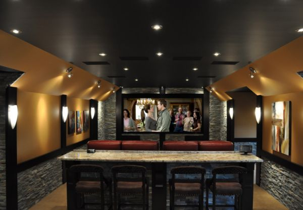 35 modern media room designs that will blow you away bar search and home bar rooms - Home bar rooms ...