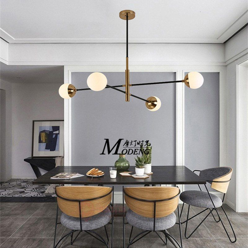 Ceiling Lights & Fans Lights & Lighting Post-modern Led Novelty Chandelier Nordic Fixtures Glass Ball Illumination Living Room Hanging Lights Restaurant Suspended Lamps High Quality And Inexpensive