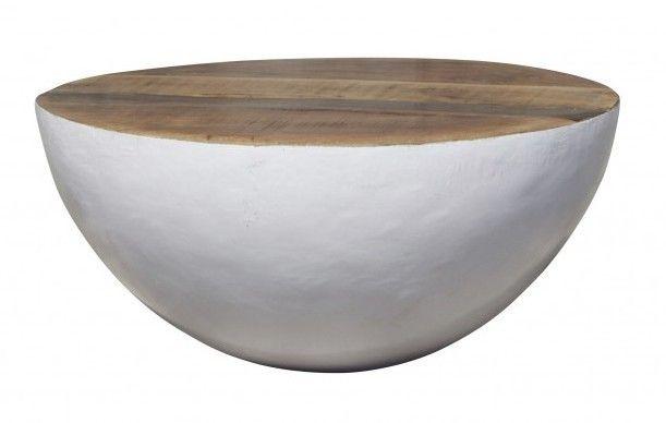Couchtisch Bowl 1x Couchisch Bowl 70 X 70 Cm Weiss Material Holz Metall Deckplatte Besteht Aus Holz Die Halbku Couchtisch Tisch Sofa Tisch