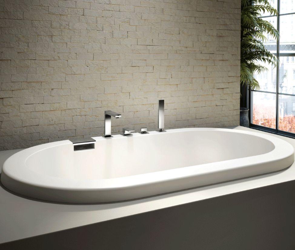 Modern Podium Style Oval Bathtub By Produits Neptune Tao Collection Badewanne Eckbadewanne Badezimmer