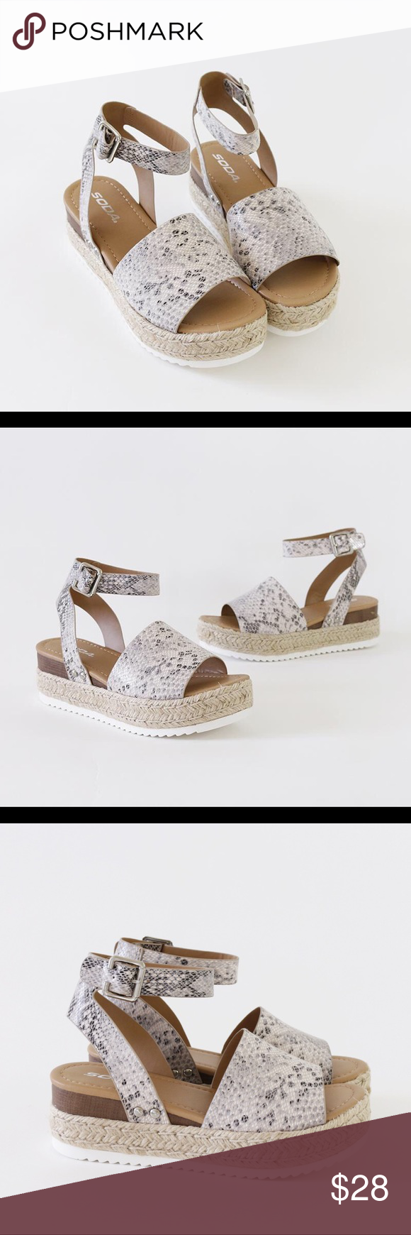 1ff3f15550eb topic python ankles-trap sandal espadrilles Style   Flatform Espadrilles  Heel Height   2 1