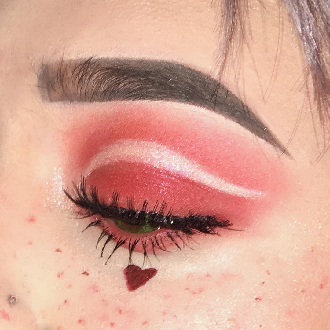 Red Heart Valentine S Makeup Aesthetic Makeup Eye Makeup